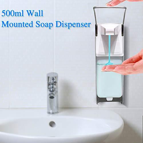 Bumplebee Eurospender Desinfektion, Desinfektionsspender Wandmontage Kunststoff Pumpe Nachfüllbarer Wand Seifenspender Desinfektionsmittel Spender für Küche und Badezimmer (Weiß, 500 ML)