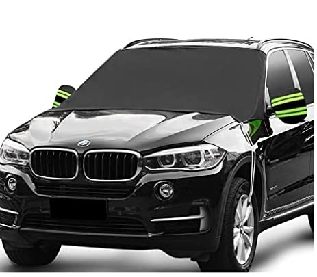 Fedciory Car Windshield Snow Cover,3-Layer Protection&Double Side Design,Snow, Ice, Frost,UV Full Protection,Extra Large & Thick Fit for Most Vehicle(87'x50')