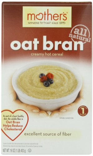 Mother's Cereal Hot - Oat Bran, 16-Ounce (Pack of 6)