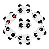 Set de 7 bonitos antifaces para dormir de oso panda, ayuda para dormir dulce, suave y mullida, venda para los ojos, remedio para dormir en viajes y fiestas de pijamas