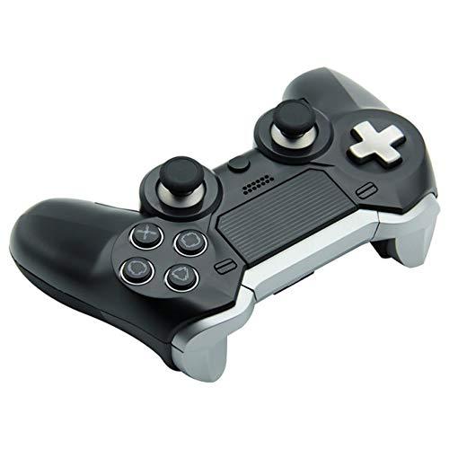 hyy Controlador Inalámbrico PS4 Controlador Inalámbrico Bluetooth Controlador De Juego Azul,Black
