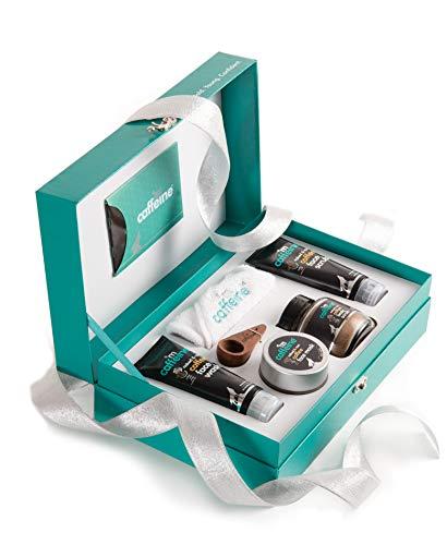 mCaffeine Coffee Mood Skin Care Gift Kit | Tan Removal, Deep Cleanser | Body Scrub, Face Wash, Face Scrub, Face Mask | Paraben &...