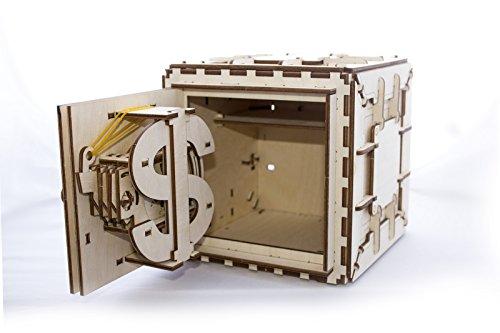 Casse-tête 3D en Bois pour Adultes Modèles de Coffre-fort Ugears - 4