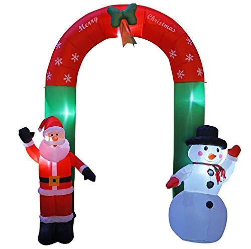 Rziioo Decoración De Arco Inflable Navideño Grande De 8 Pies Santa Claus...