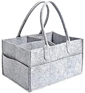 Baby Diaper Caddy Organiser Foldable Portable Nappy Caddy with Adjustable Compartments Designed to Accommodate All Nursery...