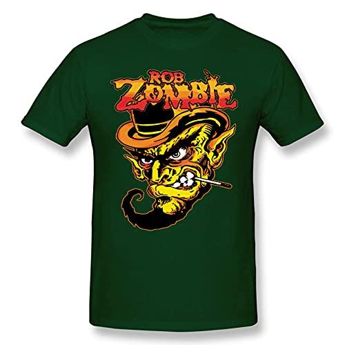 Rob Zombie - Camiseta de Manga Corta de Algod¨n a la Moda para Hombres y j¨Venes, Camiseta gr¨¢fica Grande