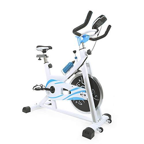 YUANP Bicicletas Estaticas Baratas,maquinas De Gimnasio para Casa Fitness En Casa Total Crunch Indoor Estatica Plegable con Respaldo Bicicleta Spinning Bicicletas Estáticas Y De Spinning,Blue