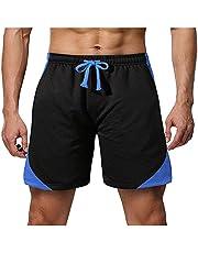XUJY Heren sportshorts korte broek zomer vrije tijd sport fitness mesh ademende kleur bijpassende shorts broek