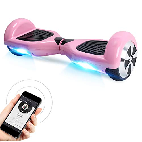 "Windgoo Hoverboard, 6.5"" Self Balance Scooter mit Bluetooth Lautsprecher, LED Lights Elektro Scooter E-Skateboard (Pink)"