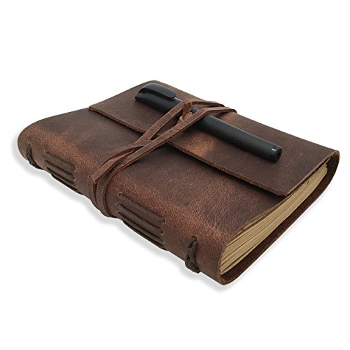 Genuine Leather-Bound Writing Journal