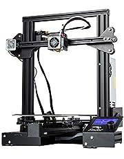 طابعة عالية الدقة ثلاثية الابعاد طراز 3 دي اندر - 3 برو من كريلتي يمكنك تشكيلها بنفسك مع قاذف MK-10 وتقنية استئناف الطباعة تطبع مقاسات طباعة 220×220×250 ملم للاستخدام في المنزل والمدرسة