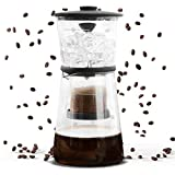 Refinery Coffee Cold Brewer, Slow Drip Cold Brew Maker, Best Coffees and Teas, Lower Acidity and Bitterness, No Extra Filters Needed, Adjustable Drip Rate Controls Intensity, 17 Fl. Oz./500 ML, Glass