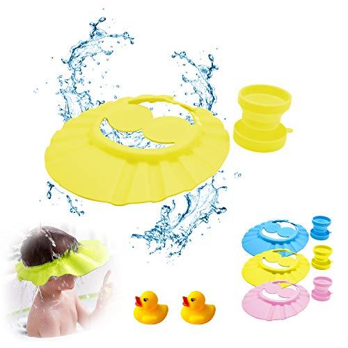 gorra de ducha para bebé, visera baño bebe, gorro suave para niños,...