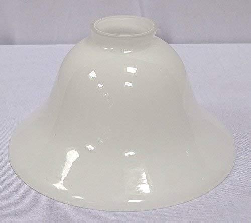 linoows Lampenschirm, Konisch geschweifter Antiker Glasschirm, milchig Weiß 20 cm