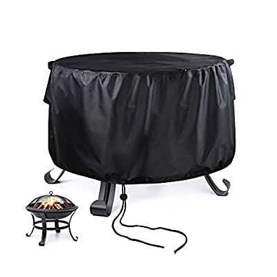 Fenghome Round Fire Pit Cover Waterproof Durable Oxford Fabric Patio Firepit Bowl Cover with Air Vent 76x30cm from Fenghome