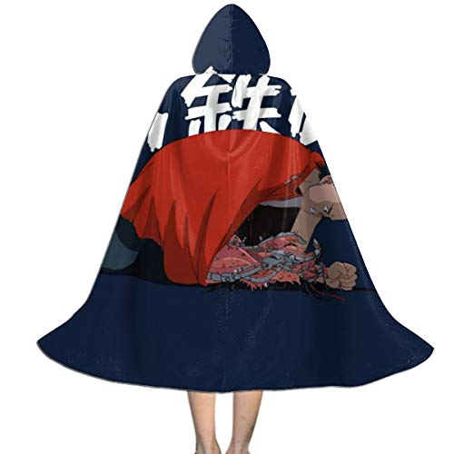 NUJSHF Akira Tetsuo con Garra Unisex para niños, Capa con Capucha para Halloween, decoración de Fiestas, Disfraces de Cosplay