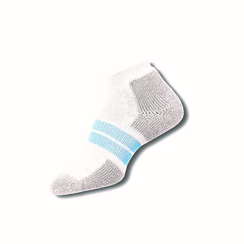 Thorlos Damen 84 N Max Cushion Running Low Cut Socken - Weiß - Medium