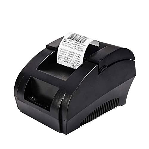 UOOD Impresora inalámbrica de recibos térmicos Bluetooth, impresora de facturas personal portátiles 58mm mini POS USB Impresora para ventas de restaurantes compatible con venta al por menor con Androi