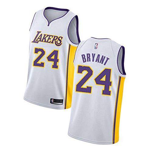 EBDC Bryant Los Angeles Lakers 24# Camiseta de baloncesto para hombre, edición conmemorativa, juvenil, retro, baloncesto, Swingman, bordado de malla 2XL, Neutral, Hombre, color blanco, tamaño XXL (187/198 cm)