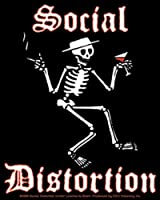 "SOCIAL DISTORTION Skeleton STICKER, Officially Licensed Products Classic Rock Artwork, 5"" x 4.3"" - Long Lasting for Any Surface Sticker DECAL"