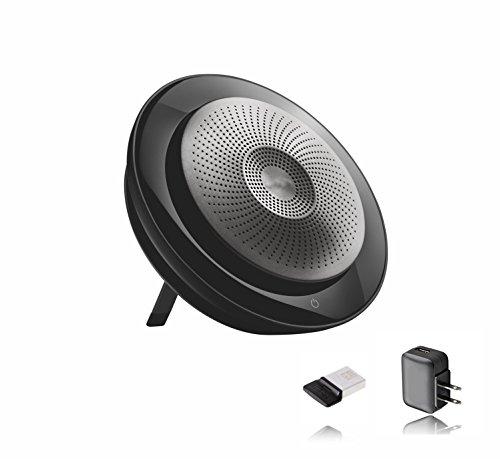 Jabra Speak 710 Speakerphone Wireless UC Bundle w Wall Charger, Bluetooth Dongle - USB, Pc, Mac Compatible with Softphones, Smartphones, iPad, Tablets, Skype, Cisco, Webex, Avaya