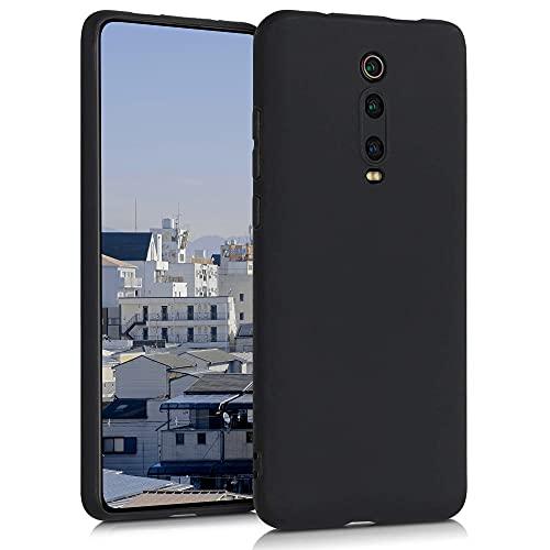 Agedate Für Xiaomi Redmi K20/K20 Pro/Mi 9T/Mi 9T Pro Hülle K20 Pro Handyhülle Schwarz Matt Silikon Hülle Kompatibel mit Xiaomi Mi 9T/Mi 9T Pro, Black