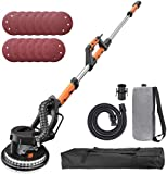 Electric Drywall Sander,6.7A 12 Sanding Discs Variable Speed 500-1800RPM,Drywall Sander with LED Light and Carry Bag PDS03A