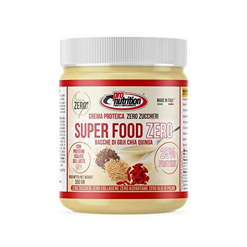 Pro Nutrition Crema Proteica Super Food Zero Bacche di Goji Chia Quinoa barattolo 350 gr