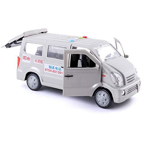 Yifuty Kinder Trucking Van Spielzeug Transport-LKW-Jungen-Baby-Inertia-Werkzeug-Auto-Modell Ton und Licht DREI-Tür Tür kann geöffnet Werden (Color : EIN)