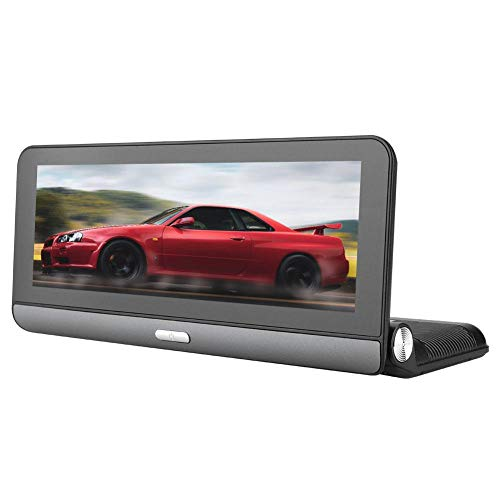 Estink 7-inch Mirror Dash Cam, Dual Network Center Console GPS Navigation, Car DVR Reverse Car Mirror, Remote Capture, Bluetooth Call, Voice Control, Multimedia Functions