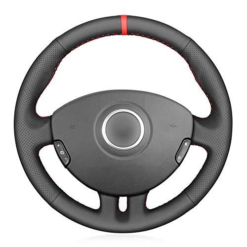 NUIOsdz Cubierta de Cuero para Volante de Coche Cosida a Mano, para Renault Clio 3 2005-2013 Clio 3 RS 2005-2013