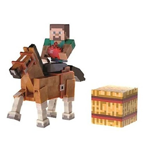 Minecraft Steve with Chestnut Horse Figure Pack