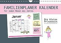 Die kleine Prinzessin, die nicht einschlafen wollte - Familienplaner (Wandkalender 2022 DIN A4 quer): Der Familienplaner-Monatskalender zum Gutenachtgeschichten Buch zum Vorlesen: Die kleine Prinzessin, die nicht einschlafen wollte (Monatskalender, 14 Seiten )