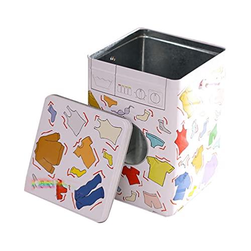 Cabilock Cubo de Detergente en Polvo para Ropa Recipiente de Almacenamiento de Detergente de Metal para Granja Caja de Almacenamiento de Detergente en Polvo con Tapa Y Asas para Guardar