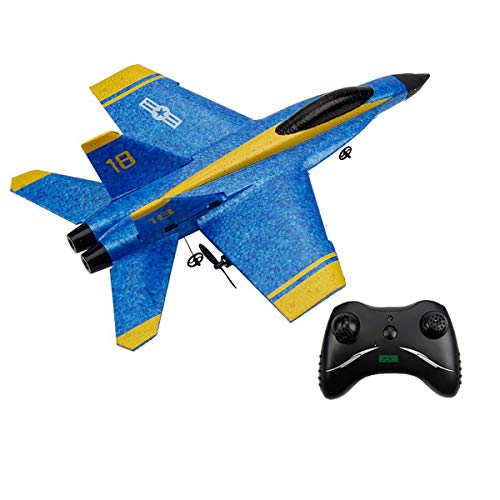 OTTCCTOY RTF RC Plane Remote Control Airplane, 2.4GHz 2CH RC Airplane F18 Jet Aircraft,RC Plane for Kids Boys Beginner