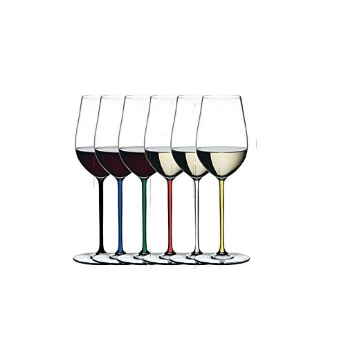 Riedel 7900/15 Fatto A Mano Riesling/Zinfandel Glass, Crystal, Assorted Set of 6
