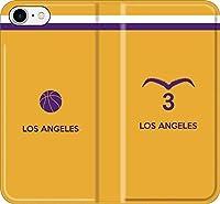 【全機種対応】 iPhone スマホケース バスケ(ホーム ロサンゼルス 3番 A)アンソニーデイビス レイカーズ 12 iPhone XR