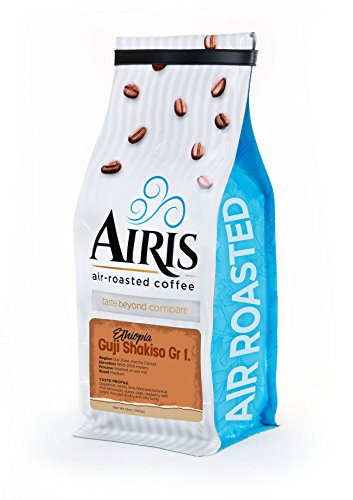 Ethiopia Guji Shakiso Gr1 Coffee, Whole Bean, AIR ROASTED COFFEE by Airis Coffee Roaster (12oz)