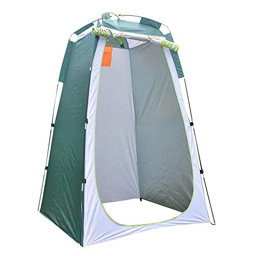 Ducha emergente portátil Tienda de privacidad Vestidor Espacioso Vestuario, WC para Campamento, Refugio de Lluvia para Camping y Playa (Verde + Gris)
