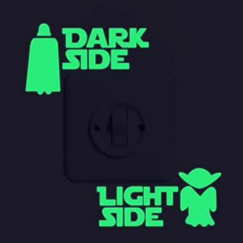 Cooldeer Lichtgevende Gesneden Schakelaar Stickers Engels Alien Kaars Slaapkamer Woonkamer Badkamer Fluorescerende Decoratieve Muurstickers