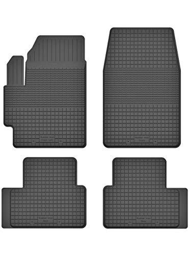 KO-RUBBERMAT Gummimatten Fußmatten 1.5 cm Rand geeignet zur VW UP (Bj. ab 2011) ideal angepasst 4 -Teile EIN Set