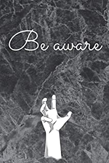 """Be aware: Daily dairy 2020 / journal / notebook to write in 6"""" x 9"""" /  120 page  blank lined / black matte cover wavy for nice gift"""