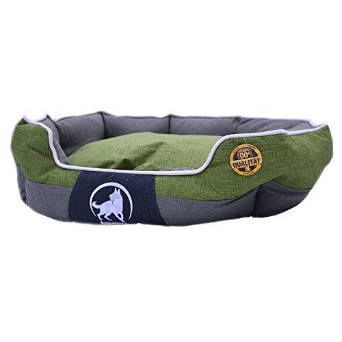 Aquagart Premium Hundebett waschbar mittelgroße Hunde I Hundekorb mittelgroße Hunde robust I Hundekissen mittelgroße Hunde rutschfest I Größe L 75 x 60 x 25cm I grün (L, Grün)