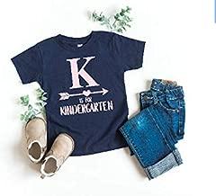 Girl's Back to School Shirt First day of Kindergarten T-shirt K is for Kindergarten