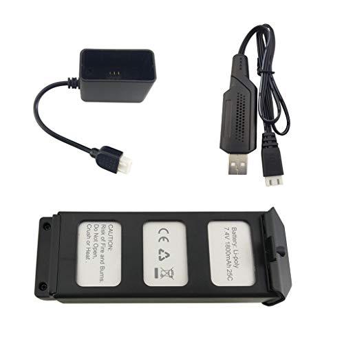 ZYGY 7.4V 1800mah Batteria al Litio + USB Cavo di Ricarica per MJX B5W Bugs 5W F20 brushless Quadricottero Drone telecomandato