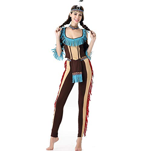 PAOFU-Native Indian Vrouwen Kostuum, Halloween Fancy Jurk Carnaval Volwassene Cosplay Kostuum