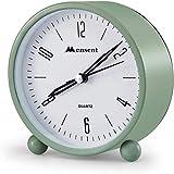 Alarm Clock.Mensent 4 inch Round Silent Analog Alarm Clock Non Ticking,with Night Light