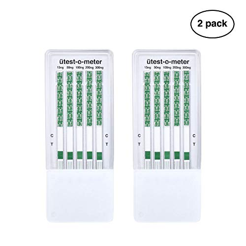 UTest-O-Meter 5 Level THC Drug Test Strips, Single Use (2-Pack)