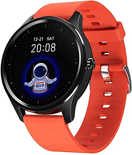 1.28 inch Full Touch Screen Fitness Tracker Heart Rate Blood Pressure Measure Health Monitor Sports Smart Watch-Red