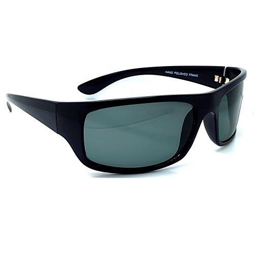KISS Gafas de sol POLARIZADO ESTILO JAMES BOND 007 - vendaje VINTAGE hombre mujer CULT MOVIE - NEGRO